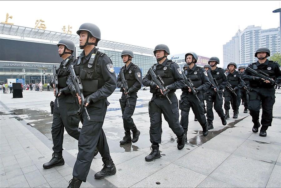 Swat Teams Join Railway Patrols Shanghai Daily