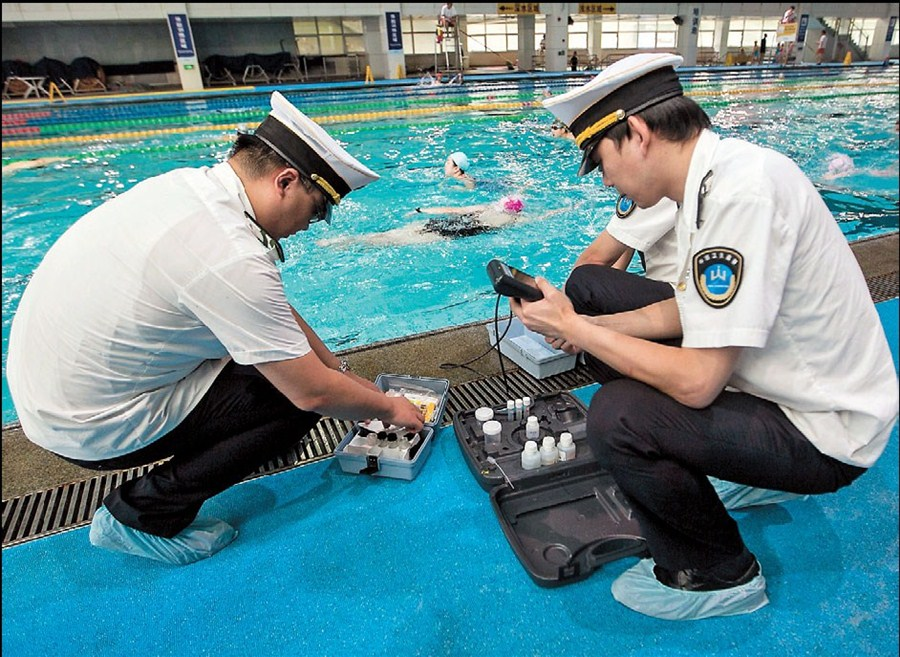 Dirty' water found in swimming pools | Shanghai Daily