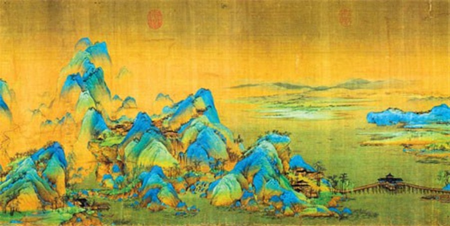 At The Tender Age Of 18 Wang Ximeng Spent Six Months Painting A Thousand Li Rivers And Mountains In 1113 This Is Only Surviving Work