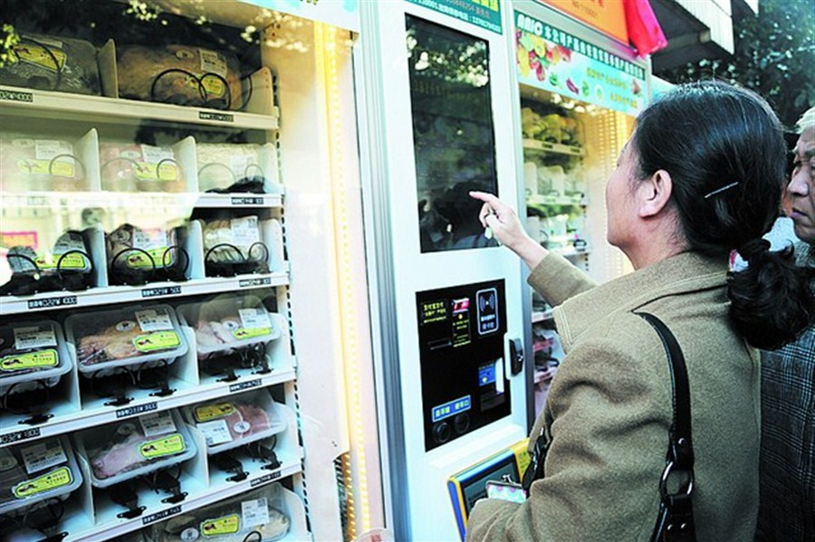 Vending machines make shopping for groceries easy and convenient