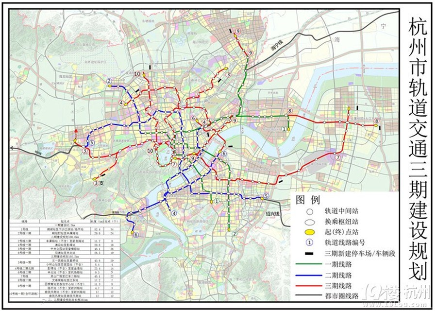 Hangzhou Subway Map.Subway Expansion Shanghai Daily